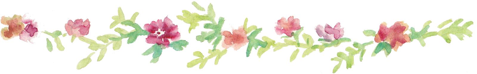 Pink Floral Line Png