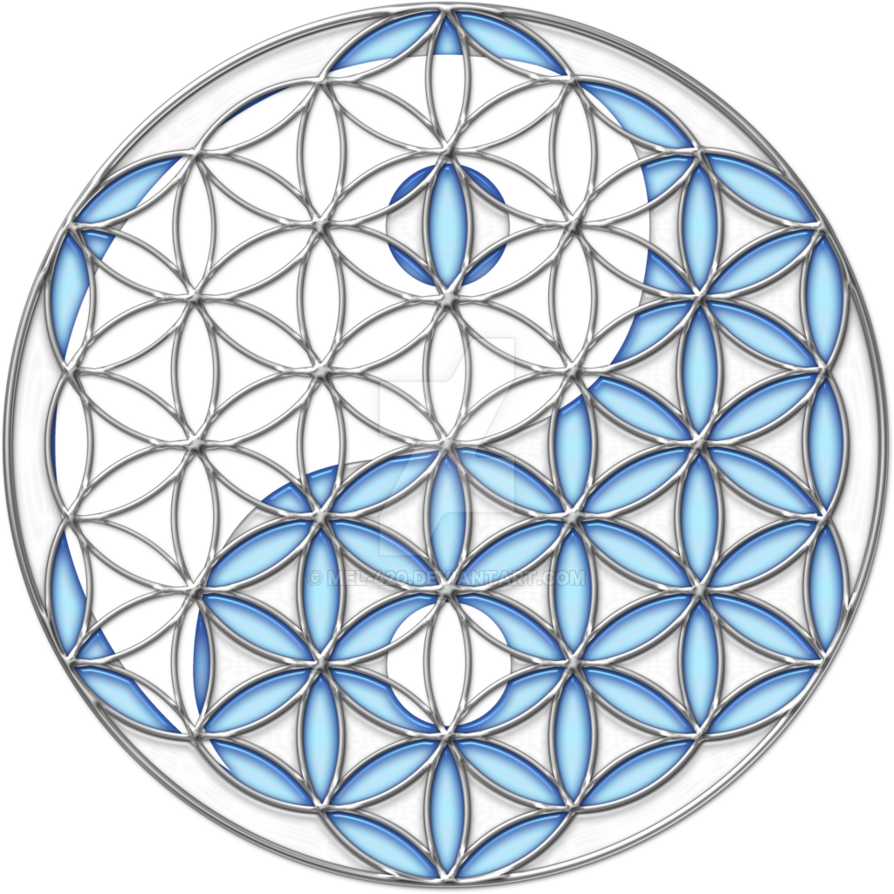 Yin yang by mel. Flower of life png