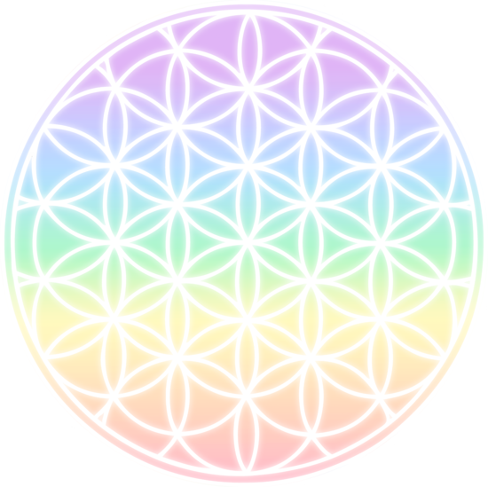 Flower of life png. Rainbow symbol free clip