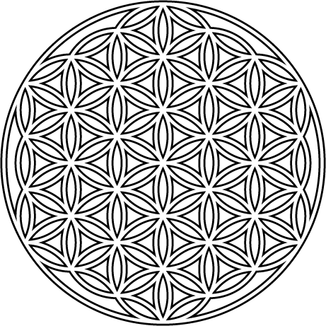 The first glass design. Flower of life png