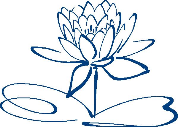Lotus blue clip art. Flower outline png