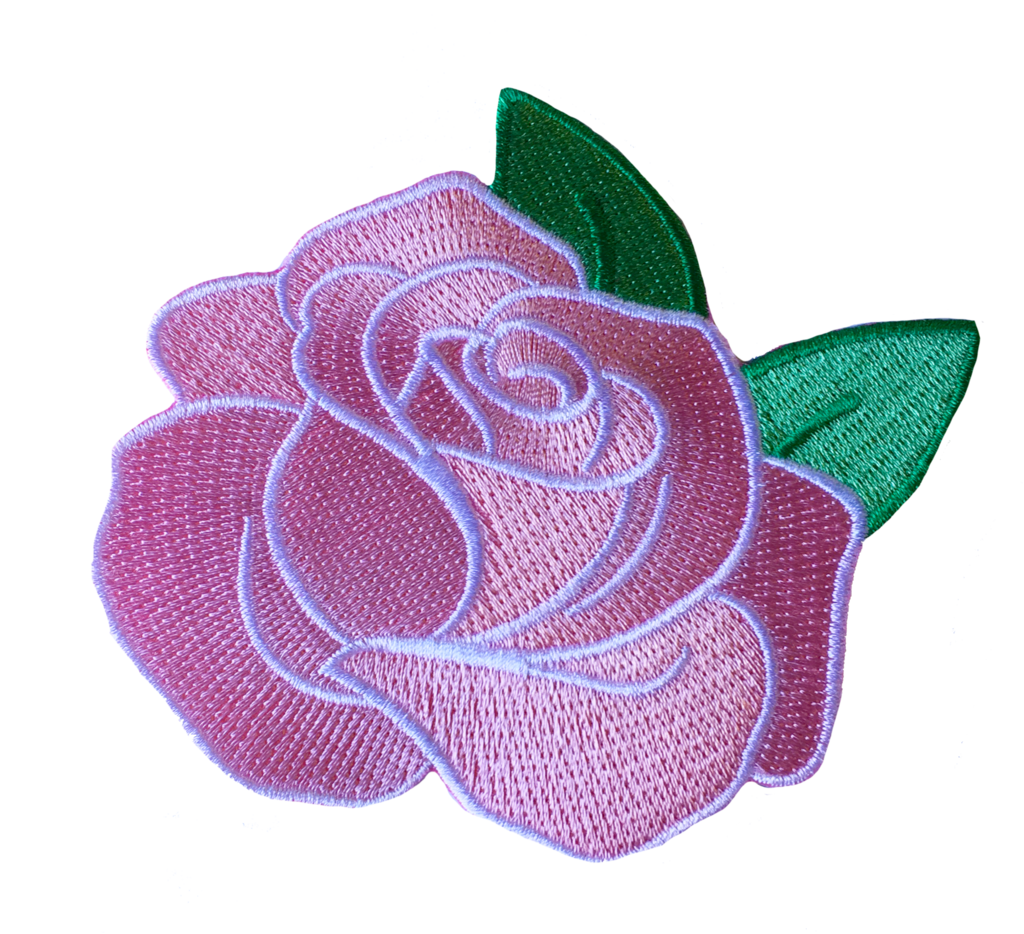 Pink rose miette. Flower patch png