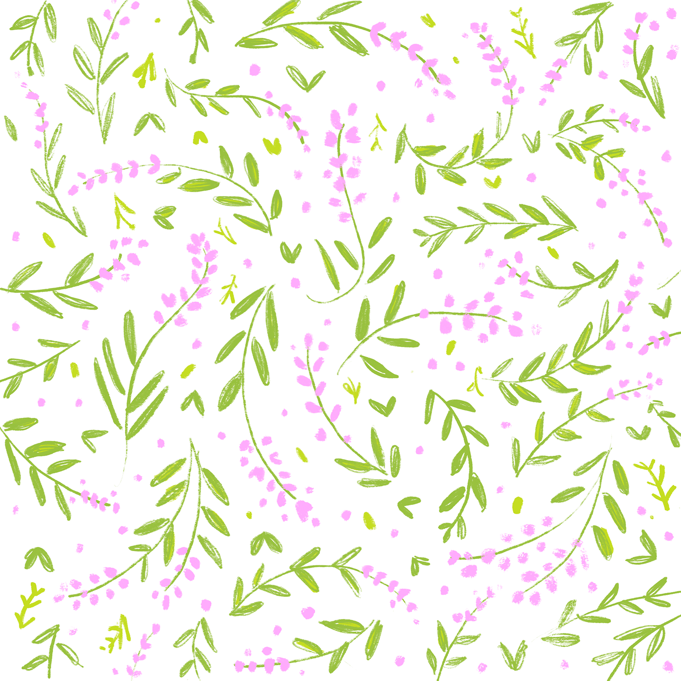 Flower pattern png. Bright and bold summer