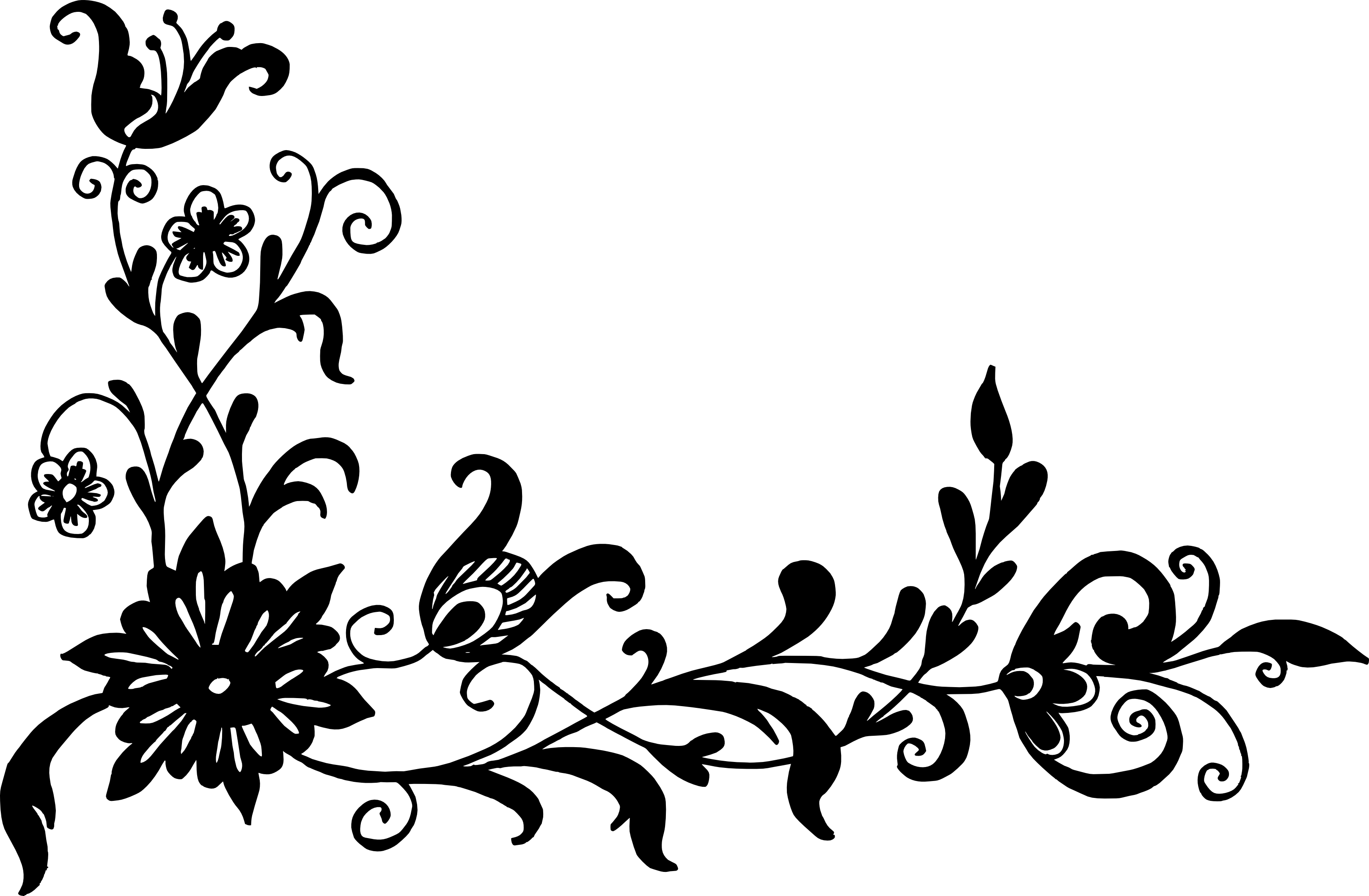 corner vector transparent. Flower pattern png