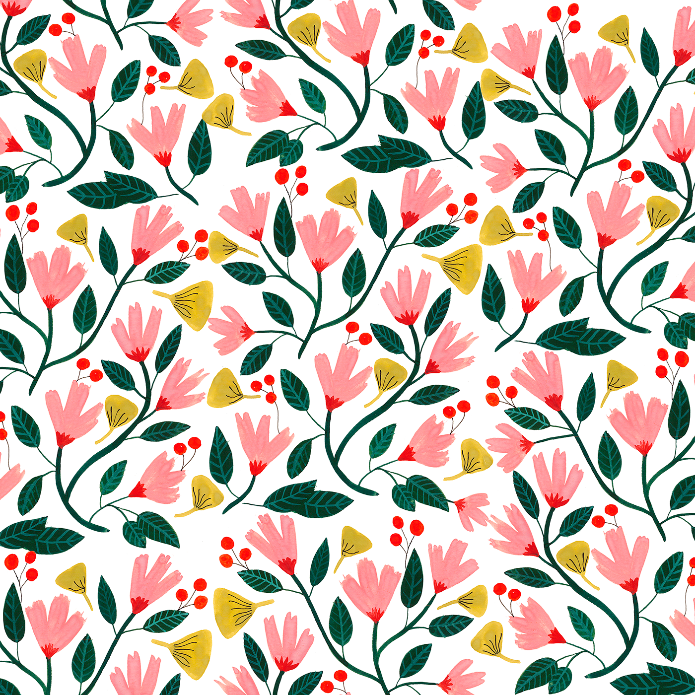 Floral on behance thank. Flower pattern png