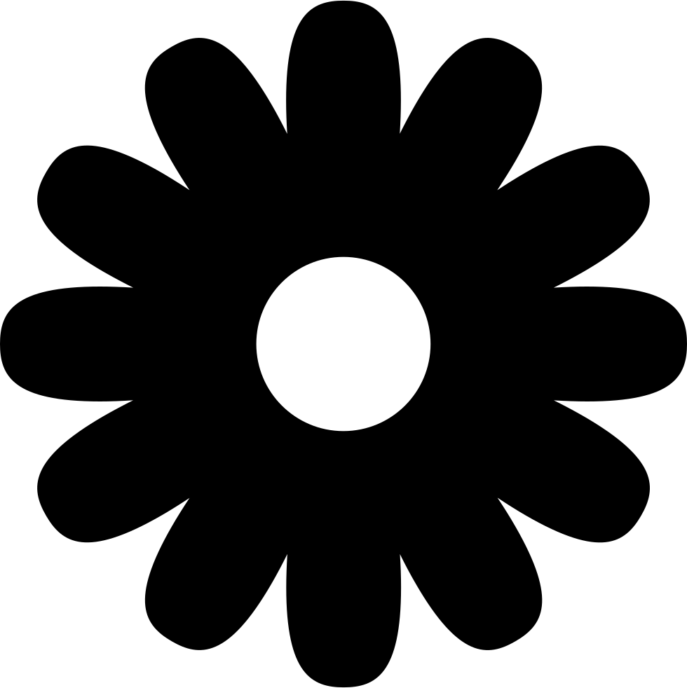 Svg icon free download. Flower shape png