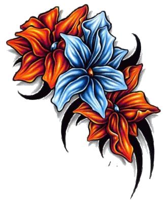 Flower tattoo png. Download image hq freepngimg