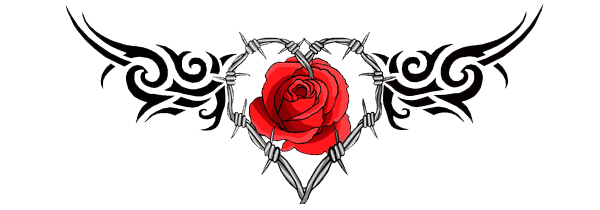 Flower tattoo png. Gothic tattoos transparent images