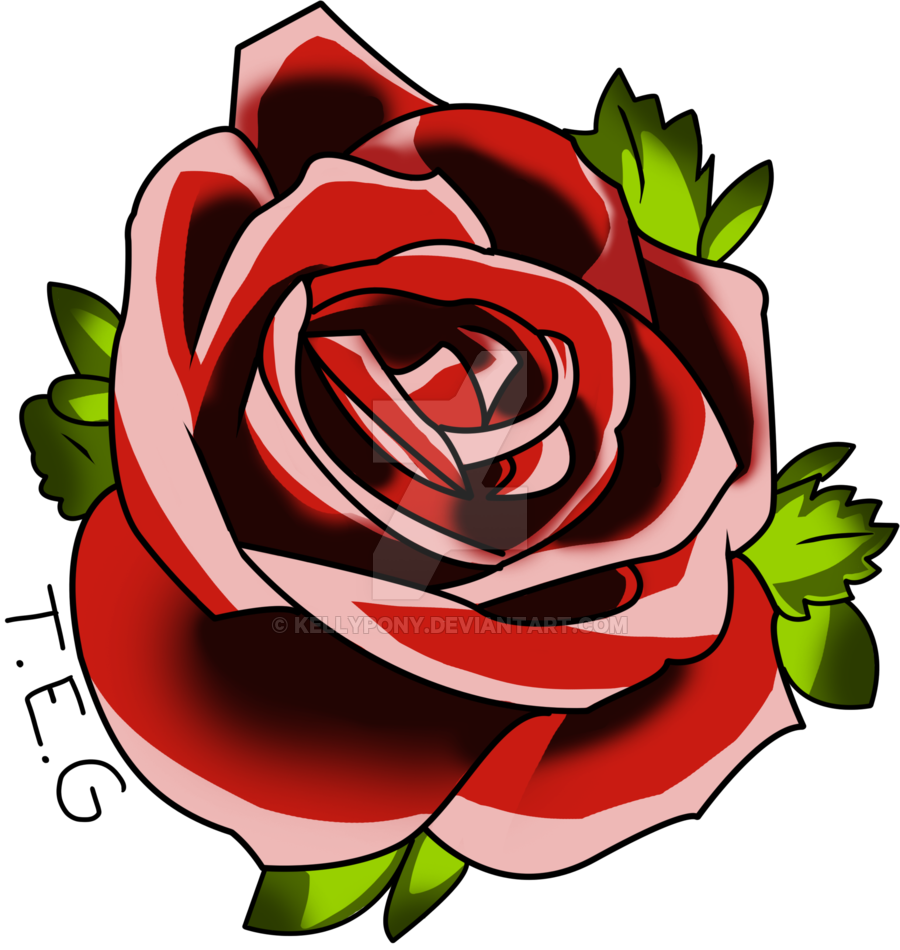 Flower tattoo png. Red rose free icons