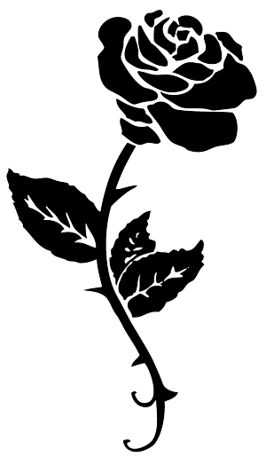 Flower tattoo png. Black rose free icons