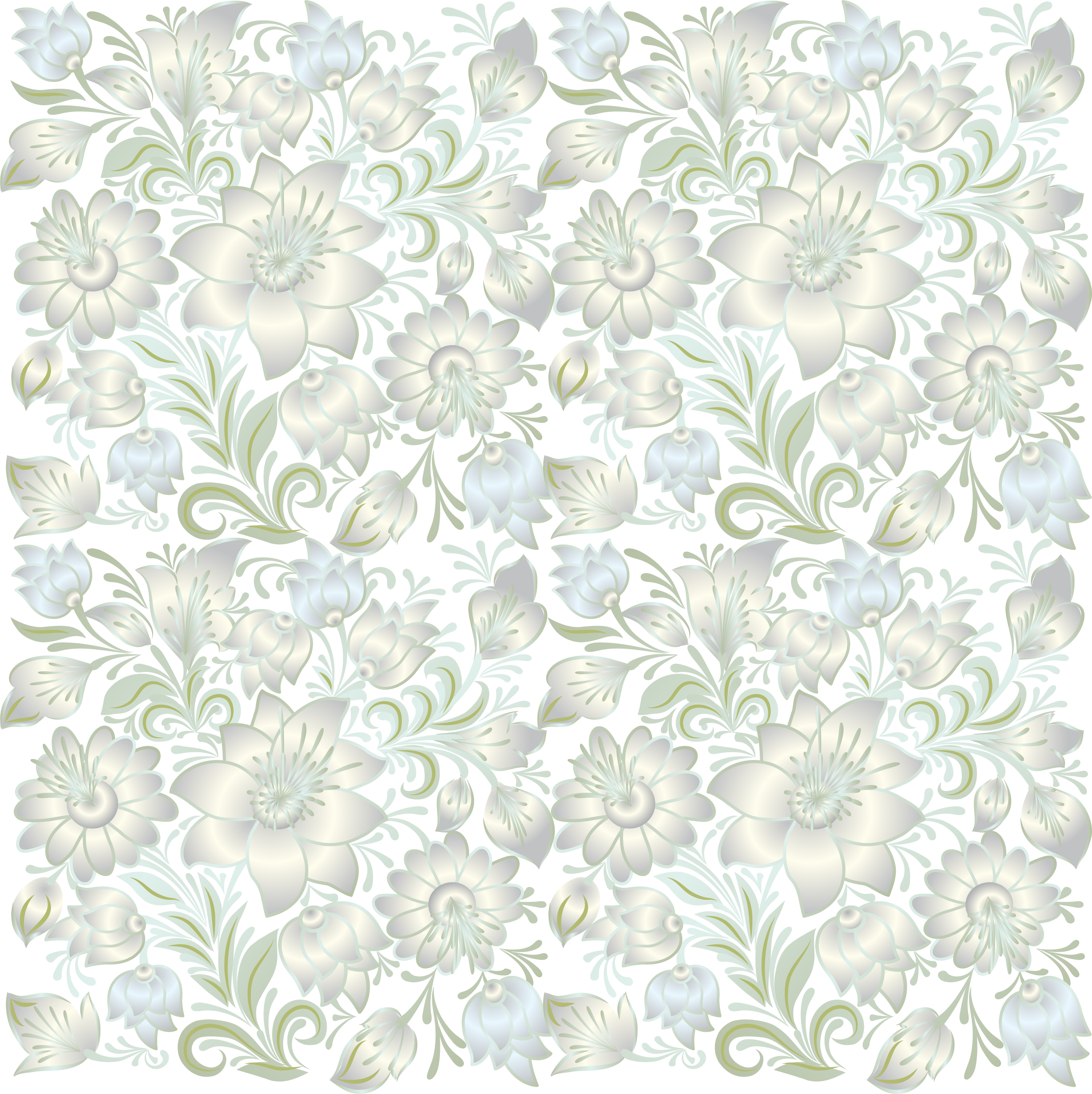 Floral design green lace. Flower texture png