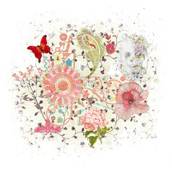 Ftestickers pattern shapes butterfly. Flower texture png