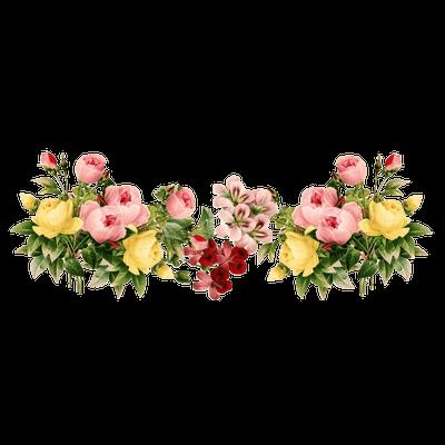 Flower vintage png. Flowers group transparent stickpng