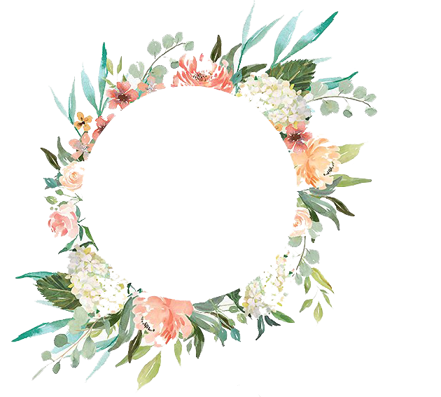 Watercolor with flowers peoplepng. Flower wreath png