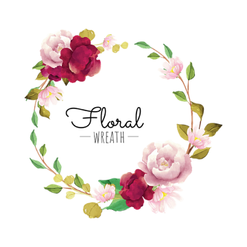 Flower wreath png. Images vectors and psd