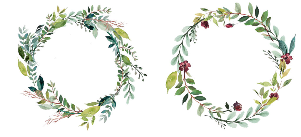 Flower wreath png.  watercolor for free