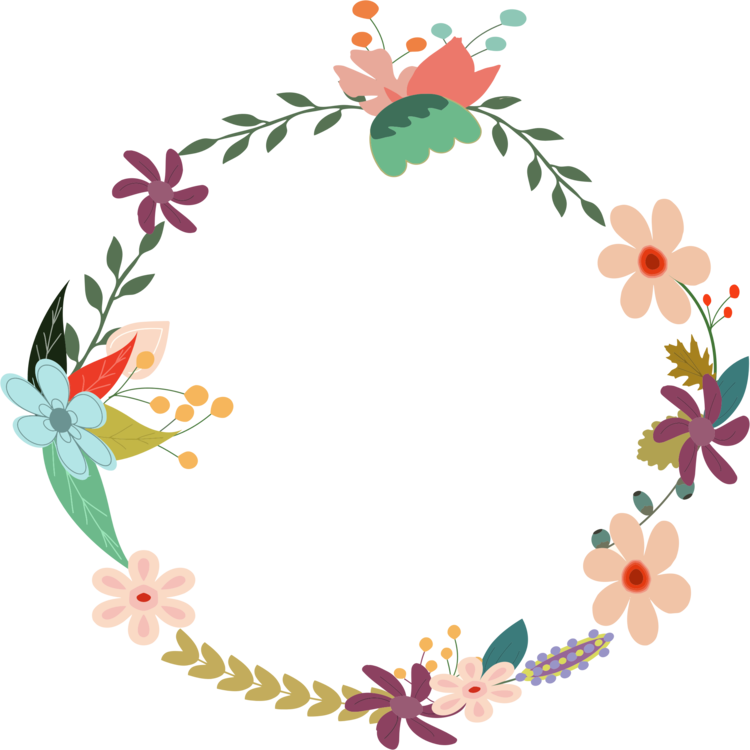 Flower wreath png. Laurel floral design crown