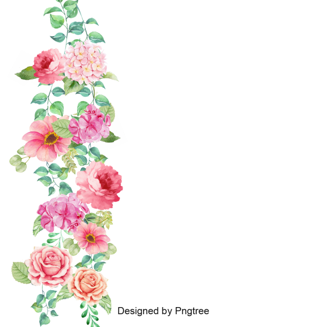 Border corner pansy and. Vector flower png