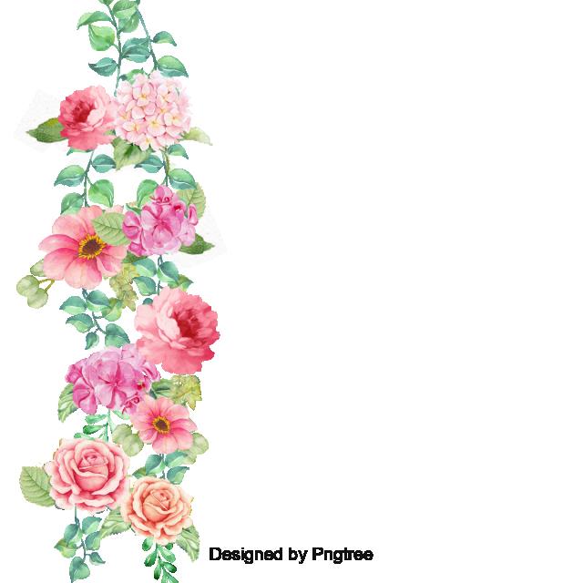 Flower border corner pansy. Vector flowers png