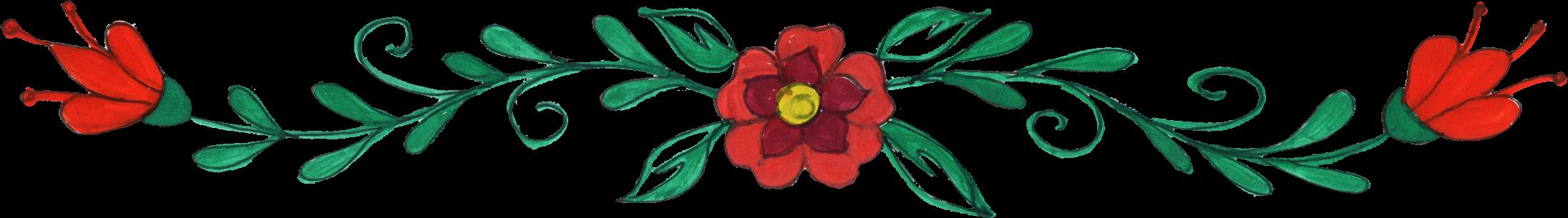 Flowers border png.  flower drawing transparent