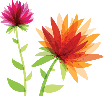 Spring the arts media. Flowers clipart
