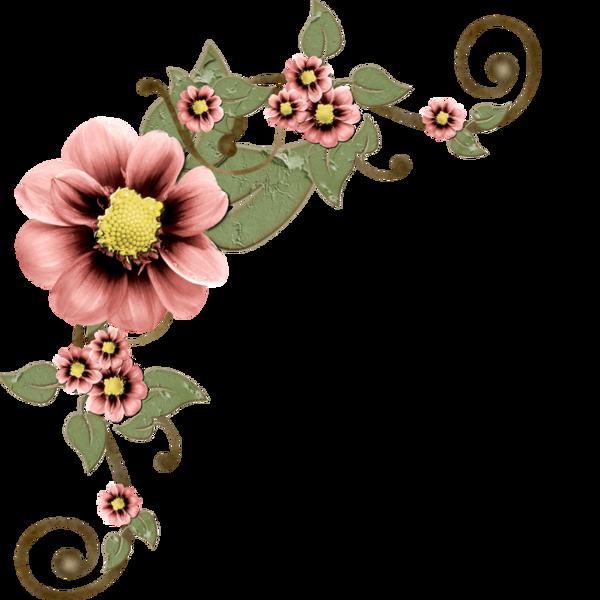 Imagens de flores para. Scrapbook clipart corner