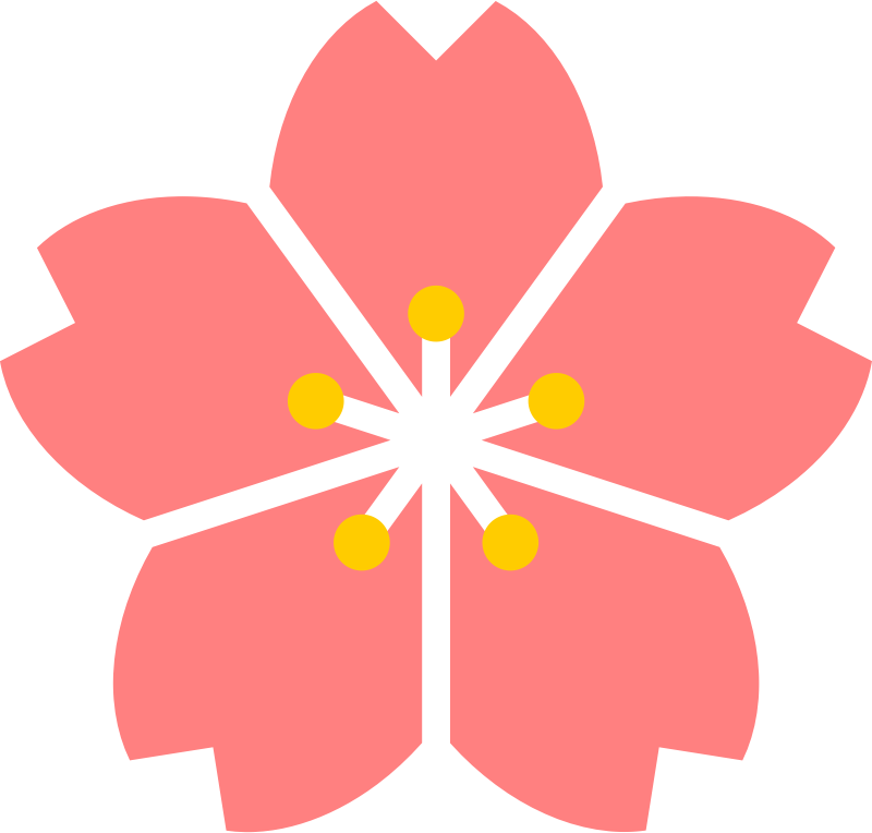 collection of flower. Japanese clipart hut