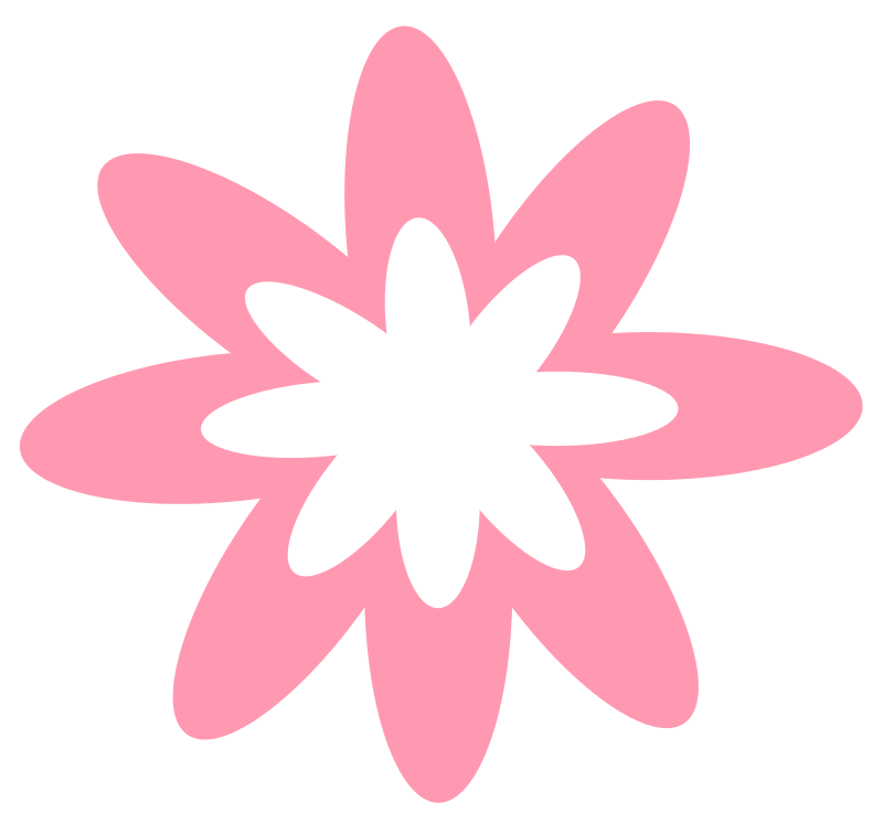 collection of pink. Flowers clipart box