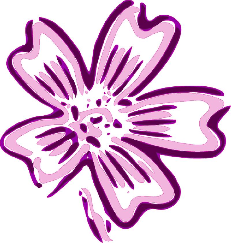 Violet . Flowers clipart cartoon
