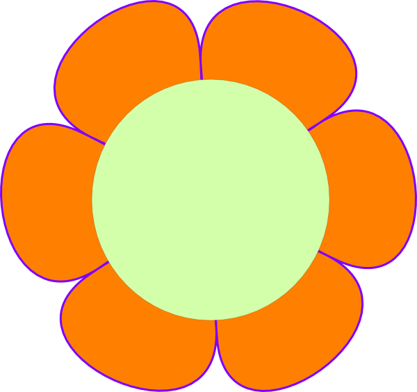 Flower clip art at. Flowers clipart circle