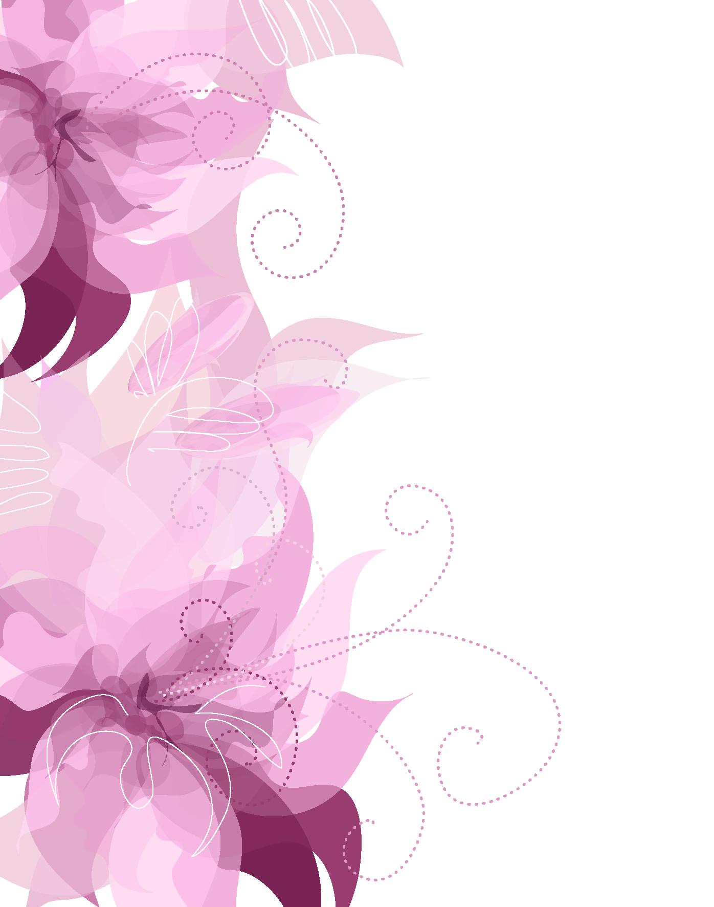 Flowers clipart cute. Pink floral decoration transparent