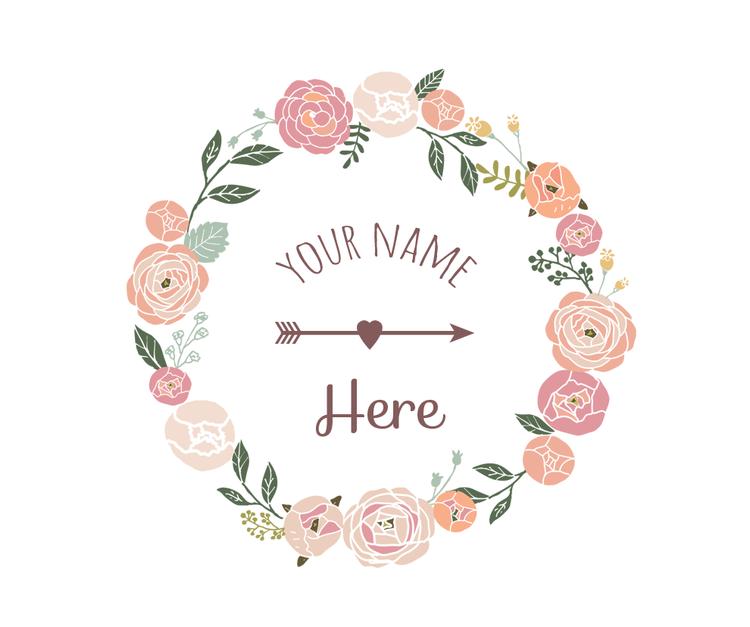 Flowers clipart logo. Borders wreath x