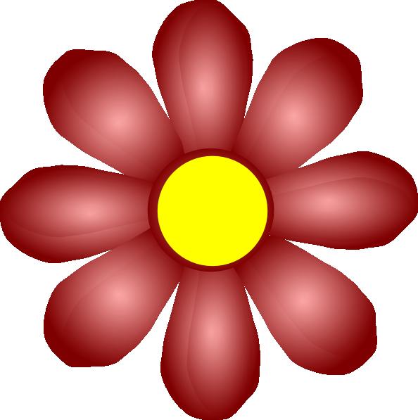 Maroon flower clip art. Flowers clipart name