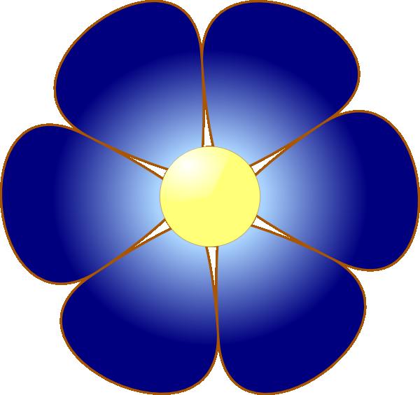 Flowers clipart rainbow. Dark blue flower pre