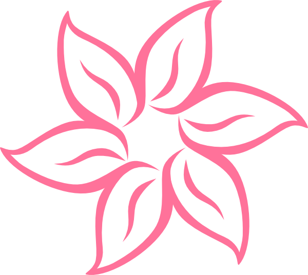 Flowers clipart simple. Pink flower clip art