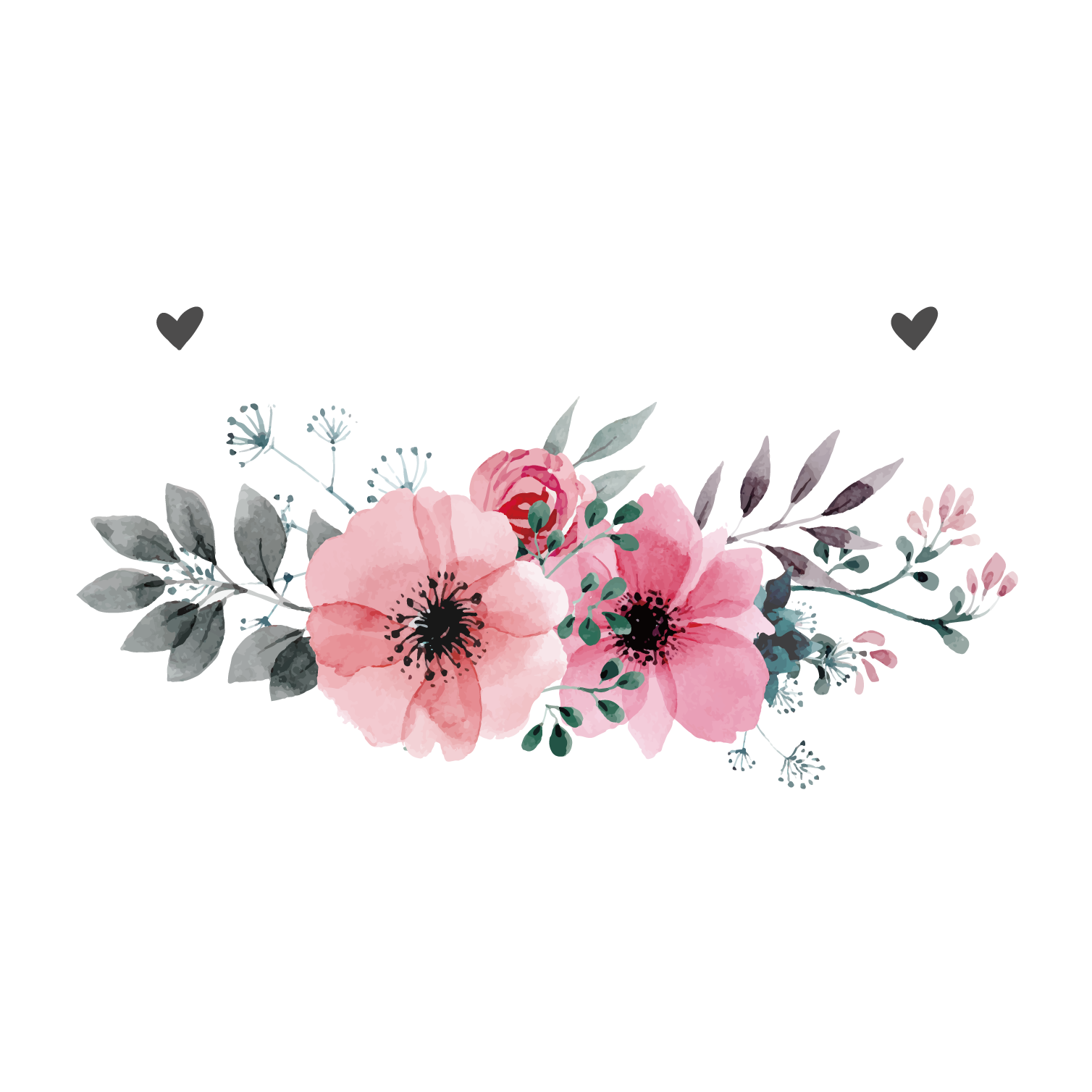 Flowers vector png. Wedding invitation flower pink