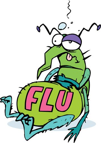 Bug cartoons free and. Flu clipart