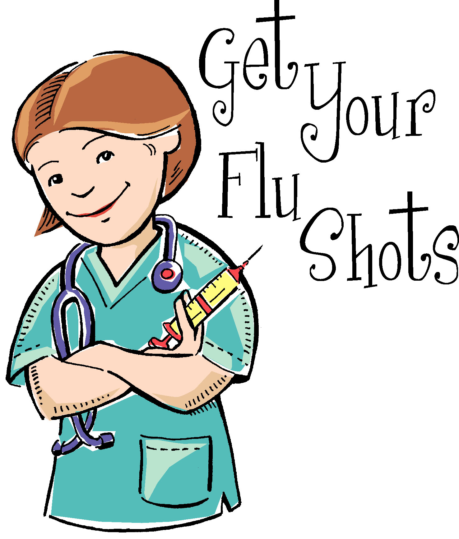 Flu clipart. Town wide clinic is