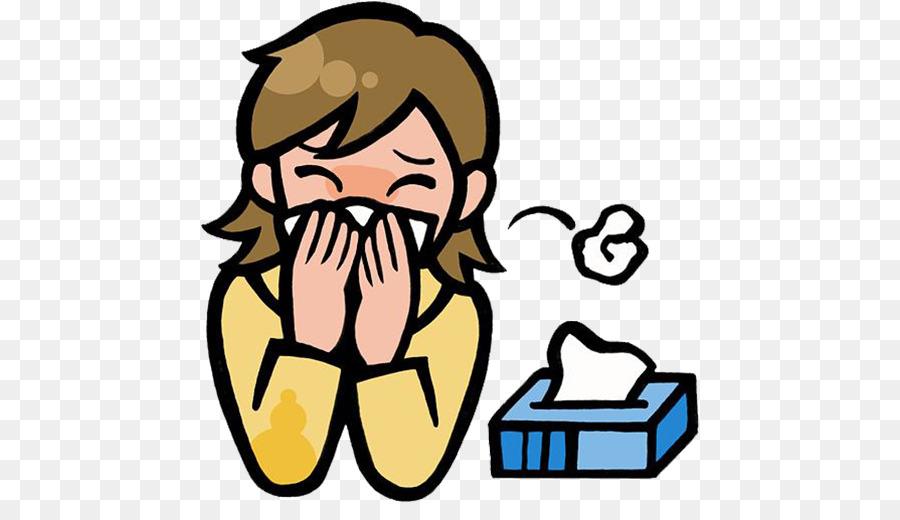 Due to pollen nose. Flu clipart allergic rhinitis
