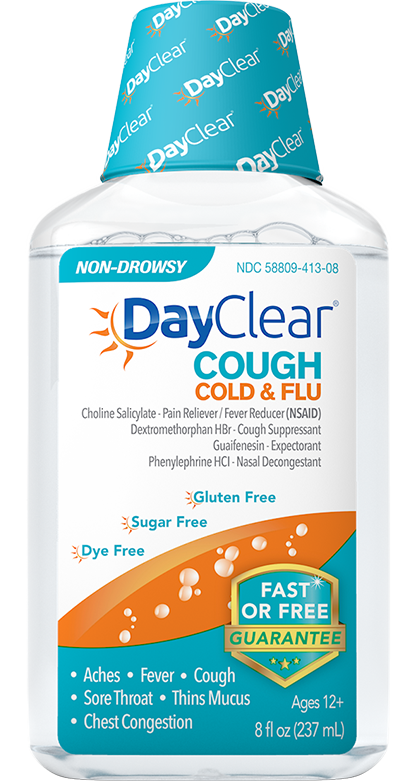 Fast non drowsy relief. Flu clipart cold cough