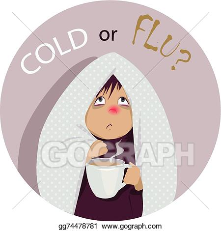 Vector stock or clip. Flu clipart common cold
