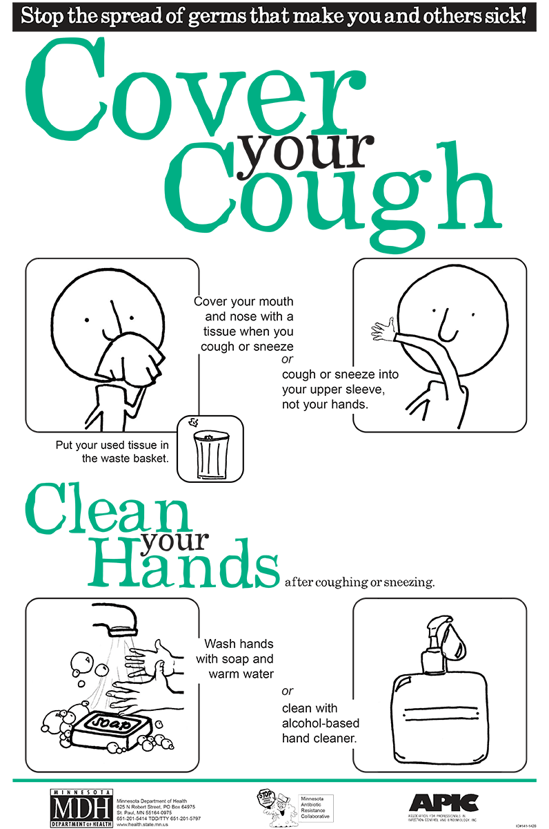 Cdc says this year. Flu clipart cover cough