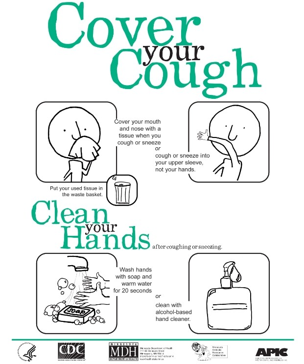 Your speare memorial hospital. Flu clipart cover cough