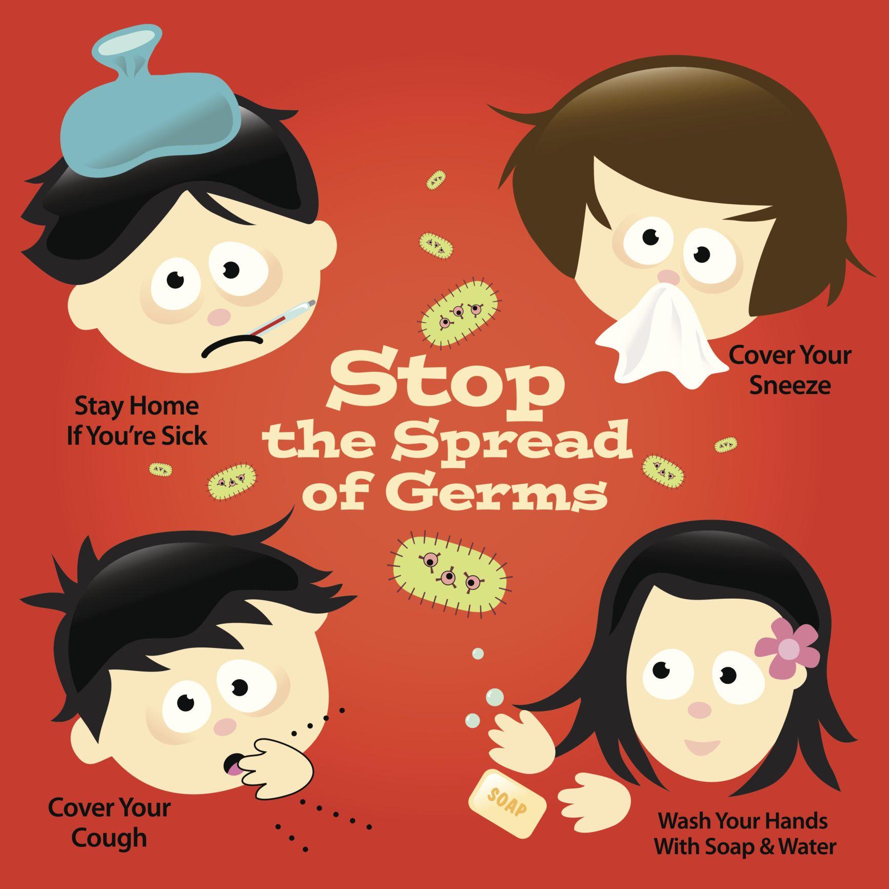 Pin on school nurse. Flu clipart disease prevention