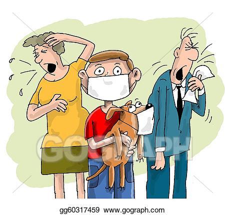 Flu clipart family. Stock photograph jpg image
