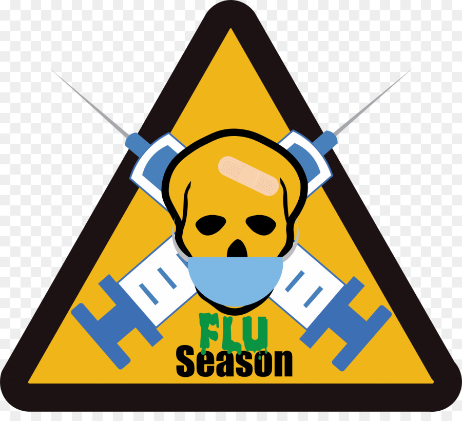 Yellow background text line. Flu clipart flu spanish