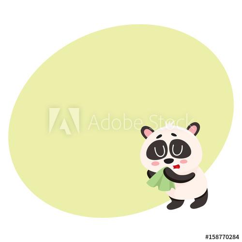 Flu clipart flue. Sick baby panda having
