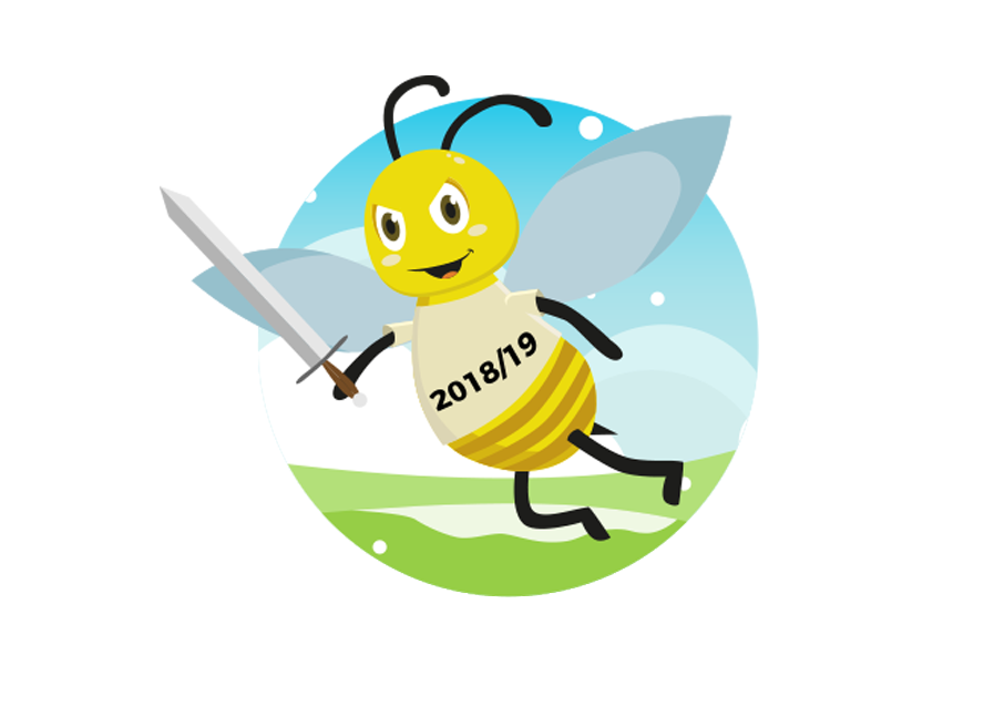 Bee home buzzing back. Flu clipart poorly