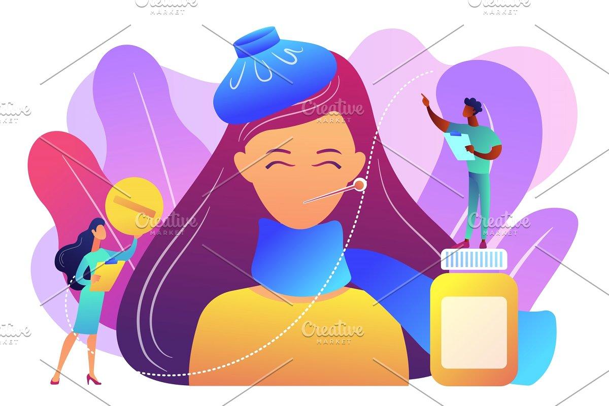 Flu clipart seasonal allergy. Concept vector