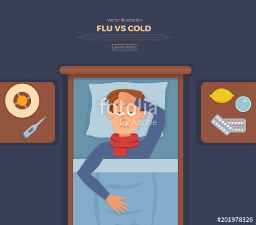 In bed with the. Flu clipart sick guy